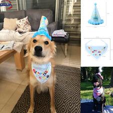 Usun Pet Dog Cat Birthday Hat Headwear Bandana Cute Neckerchief Ties Party Decor