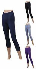 CHEX Cotton Lycra 3/4 Leggings Premium Ladies Keep Fit Fitness Training Running