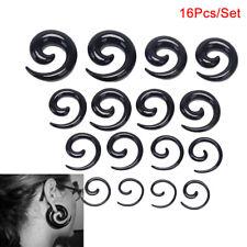 16X/Set Spiral Taper Flesh Tunnel Ear Stretcher Expander Stretching Plug SnaNWUS