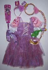 NWT Disney Tangled Rapunzel Floral Costume L 9-10 Braid Tiara Wand & Shoes 2/3
