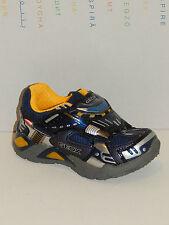 GEOX Boy Halbschuhe Blinker Blinkies LED Sneaker Supreme  J4423B  NEU