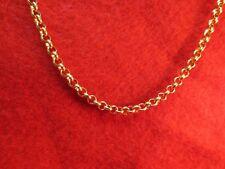 17.8cm-213cm 4MM Acero Inoxidable Oro Rolo Collar de Cadena de Cuerda Oro
