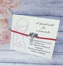 Pregnancy gift, mum to be wish bracelet, baby shower gift, sawn,swan baby shower