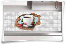 Fliesenaufkleber Fliesenbild Wanddurchbruch Aufkleber England London Tee Teezeit