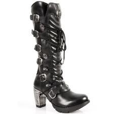 New Rock M.TR004 S1 Womens High Legged Boot -, BLACK