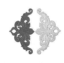 RICAMATO SWIRLS / Viva / Gotico / Art Nouveau / DECO / Floreale Motivo APPLIQUE sw4