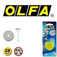 2 Blades OLFA 28mm Rotary Cutter Refill Blades RB28-2