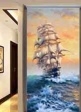 3D La Barca a Vela 4 Parete Murale Carta da parati immagine sfondo muro stampa