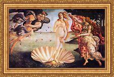 "Sandro Botticelli The Birth of Venus Framed Canvas Print 40.5""x27"" (V07-43)"