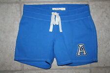 NWT Abercrombie Girls XL Elastic Draw Tie Blue Sweat Shorts