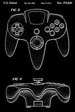 1996 - Nintendo 64 Controller - K. Ashida - Patent Art Poster