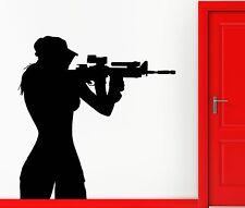 Wall Sticker Vinyl Decal Teen Sniper Shooter Army Military Decor  (z1121)