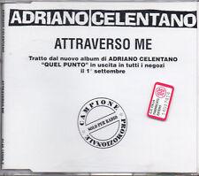 ADRIANO CELENTANO CD SINGLE Attraverso me PROMO  Made in Germany 1994