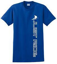 WAKEBOARD T SHIRT JUST RIDE WAKE BOARD BLUE S-M-L-XL-XXL-3XL