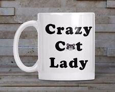 Crazy Cat Lady Mug, Coaster and Keyring - Novelty Gift Tea Coffee Mug