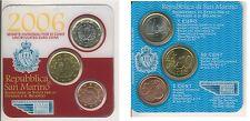 San Marino KMS klein 2006/2 3 Münzen 5 Cent bis 1 Euro st  (M00104)