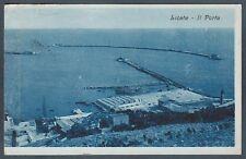 AGRIGENTO LICATA 13 PORTO è la METÀ spedita nel 1942 di una Cartolina DOPPIA
