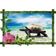 Sticker Bambou déco tortue953
