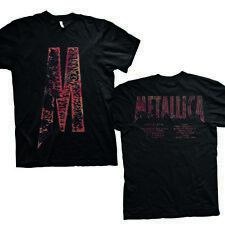Oficial Metallica-M carga álbum pistas Camiseta Unisex De Espalda cableado Master