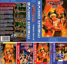 Street Of Rage 3 EU UK US Sega Megadrive Replacement Box Art Sleeves Insert Case