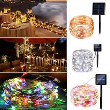 NEU 200LED Solar Lichterkette Party Lichtschlauch Weihnachtsdeko 8Modis 10M/22M
