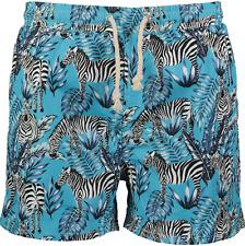 Mens Havacoa Swim Shorts Trunks Blue Zebra Authentic New RRP £95 Boxer M, L & XL