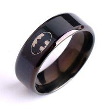 Fashion Titanium Men Boy Superhero Batman Symbol Stainless Steel Jewelry Ring