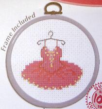 Pink Tutu - Semco cross-stitch kit with frame to do