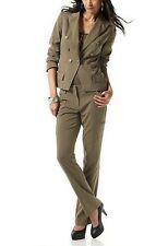 2Tlg. Hosenanzug Laura Scott NEU Kurz-Gr.16-21 Damen Anzug Khaki Hose Blazer L30