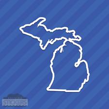 Michigan MI State Outline Vinyl Decal Sticker