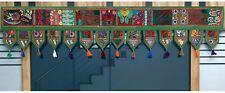 Patchwork Embroidery Toran Door Decor Vintage Valances Wall Hanging Window Decor