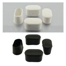 4 x Fusskappen 40 x 20mm weiß oder schwarz Stuhlkappen Schutzkappen Rohrkappen
