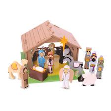 Bigjigs Toys Wooden Nativity Set - Christmas, Xmas Playset