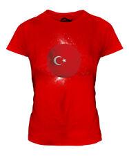 TURKEY FOOTBALL LADIES T-SHIRT TEE TOP GIFT WORLD CUP SPORT