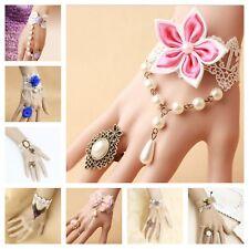 Bracelet Ring Handmade Lace Jewelry Adjustable