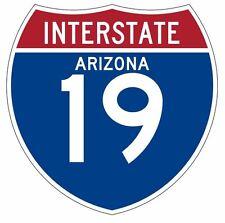 Interstate 19 Sticker Decal R892 Highway Sign