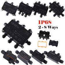 Atpwonz boîte de jonction étanche IP68 3 Way Câble Connecteurs Extérieur//Externe E