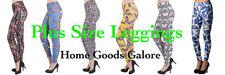 Plus Size Print Leggings Soft Colorful Pants