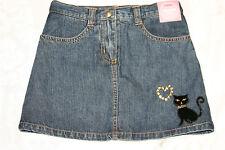 Gymboree GLAMOUR KITTY Black Cat Denim Skirt Skort NWT 5 9