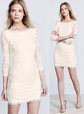 $348 Diane Von Furstenberg DVF Zarita Ivory Stretch Lace Dress 14
