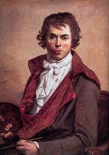 Self Portrait- Jacques-Louis David 1794, Art Poster, Museum Canvas Print