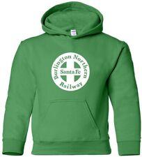 BNSF Hooded Sweatshirt RETRO Railroad TRAIN Hoodie Vintage HOODY