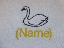 Schwanen- Bestickt bis zu Handtücher,Bade Bademantel mit Personalisierter Name