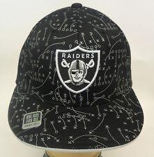 NFL Oakland Raiders Reebok Cap Hat Flat Visor Flex Team Colors OSFA NEW!!