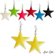 1 Par dulzura Pendientes Brillante estrellas Pendientes rosa amarillo azul verde