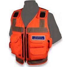 Protec haute vis 5 poche utilitaire avancé de sécurité gilet orange