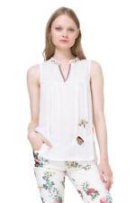 Desigual White Sleeveless Susi Blouse Embroidered Size XS-XXL UK 8-18 RRP�64