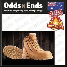 USCWZS REDBACK L/Z COBAR STEEL TOE WHEAT NUBUCK ZIP BOOTS - AUSTRALIAN MADE
