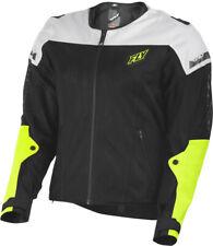 Fly Racing - Flux Air Mesh Motorcycle Street Jacket - Men's Medium - Hi-Viz Neon
