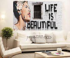 LIFE IS BEAUTIFUL HUGE QUALITY CANVAS PRINT WALL  STREET ART Australia